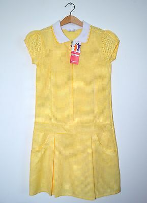 Girls summer school yellow dress Marks & Spencer size age 10 years