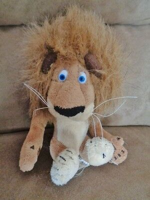 "Lion Madagascar Alex 6"" Plush Russ Celebrity Beanbag Dreamworks"