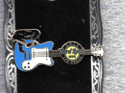 "Hard Rock Cafe Las Vegas ""the Strip"" - Elvis Wig Guitar Pin"