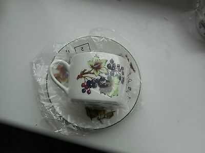 4 Royal Worcester Cups and Saucers Boxed NEW
