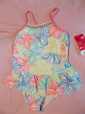 Floral Frilly Swimming Costume *size 6-7 Years* Nwt