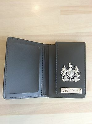 Warrant Card Wallet With Crest and authentic Enforcement Braille Bar