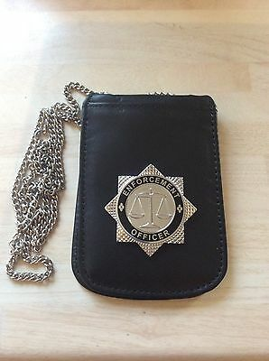 Enforcement Officer Neck Chain Multiple ID Card Holder