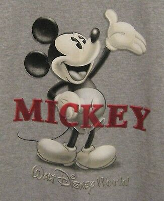 Mickey Mouse Disney Parks Printed T Shirt Men's Med New With Tag in Oxford Grey