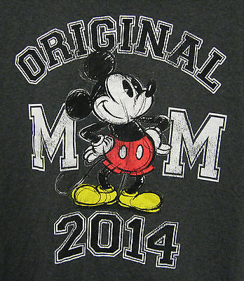 Mickey Mouse Disney T Shirt Mens Large Charcoal Grey Distressed Graphic 2014