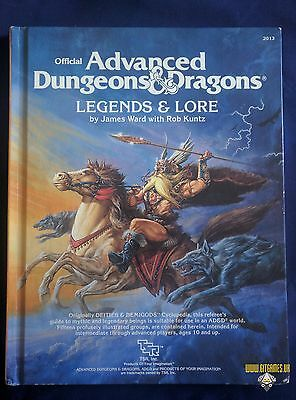 AD&D LEGENDS & LORE Advanced Dungeons Dragons TSR 1984 by James M Ward and Rob