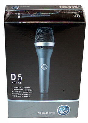 AKG D5 Handheld Cardioid Dynamic Microphone New-In-Box