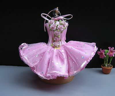 Ballerina Ballet, Tutu Outfit Handmade Costumes for Barbie, Dolls Pink Clothing