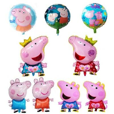 "18"" Cartoon Peppa pig George Foil Balloons Birthday Party Fancy Decor Kids Toys"