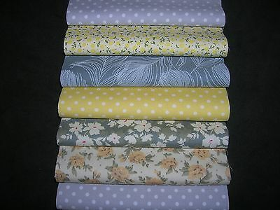 """48 x 5"""" CHARM PACK GREY & LEMON 100% COTTON PATCHWORK/QUILTING/CRAFTS LMY"""