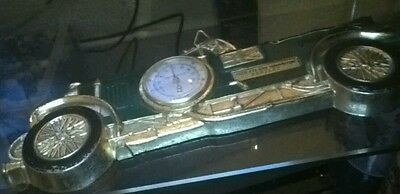 Tulip brands fancy thermometer bentley 1929 car vintage wall mount