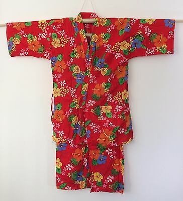 Authentic Japanese jinbei for women, traditional summer wear, used, S-M (I1056)