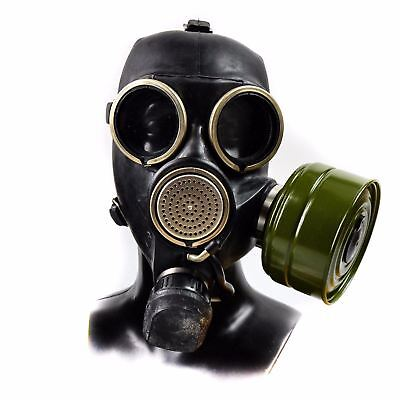 Soviet russian gas army mask GP-7V. Black rubber. New. sizes 1, 2, 3 S M L