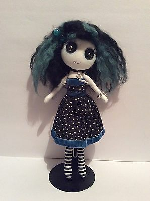 """OOAK 10"""" Button Eyed Gothic Doll Danica Brightsky ( UNWANTED PRESENT)"""