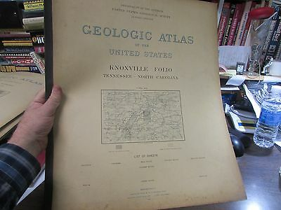 Antique - Geological Atlas Of The U.s - Knoxville Tenn. Folio  - 1896