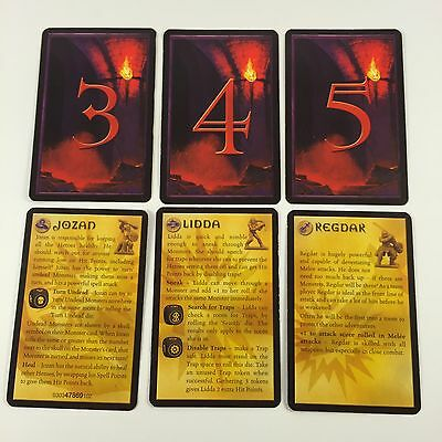 Dungeons & Dragons D&D Spare  Replacement HERO HINT & SELECTOR CARDS 2003 Hasbro