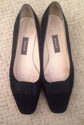 Bally Ladies Black Slip on Suede shoes Size 7.5