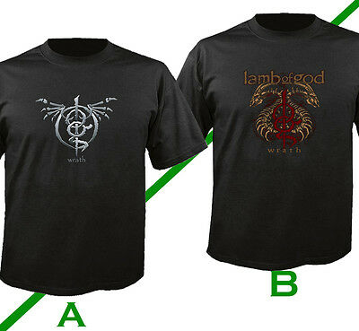 Lamb of God Wrath Band Black T-Shirt S - 3XL Men's 100% Cotton Shirt