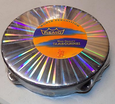 """Brand-new REMO WORLD PERCUSSION TAMBOURINE radiant 10"""" w/2 rows DRUMS TA-4210-48"""