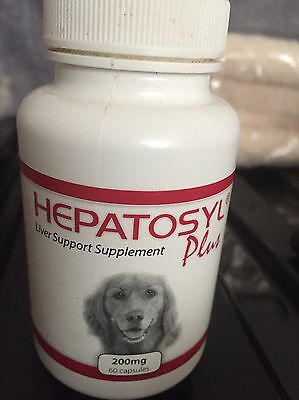 Hepatosyl Plus Liver Supplement For Dogs 200mg (60 Tub Half Used - 28 Left)