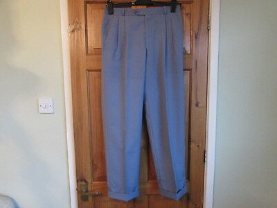 northern soul / 50s twin pleated turn up trousers W 32  X L 29