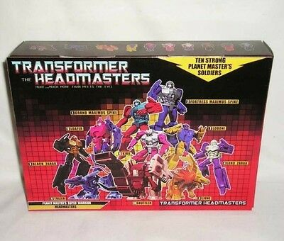 Transformers The Headmasters G1 Super Warrior Set Pack