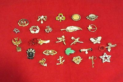 Vintage To Now Assorted Rhinestone 25 Piece Pin Brooch Lot