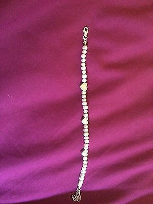 Pia Pearl And Antique Effect Sterling Silver Bracelet