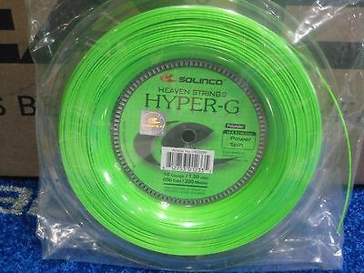 New Solinco Hyper G 16 1.30mm tennis string reel 200m 660 ft. FREE SHIPPING
