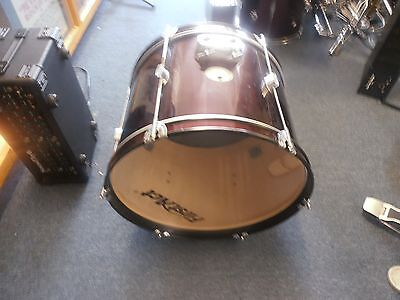 1st act 20 inch bass drum maroon