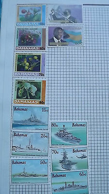 Bahamas Stamps Warships, Berries & Sir Lynden 3 sets of mint stamps   12 stamps