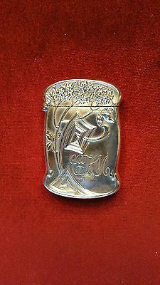 American Art Nouveau Sterling Silver Match Safe / Vesta Case