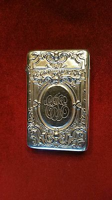 GORHAM Sterling Silver Pocket Match Safe/Vesta Case