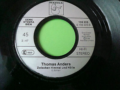 """7"" Thomas Anders - Endstation Sehnsucht"