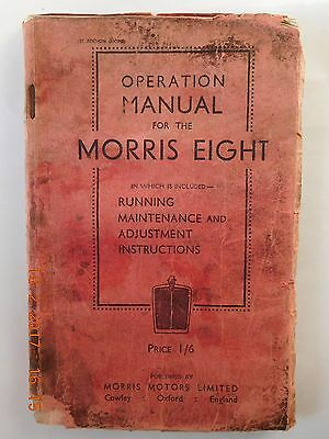 Morris Eight Operation Manual 1935