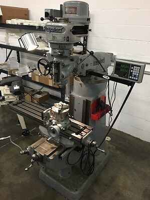 """Bridgeport Milling Machine 9""""x42"""" With Fagor DRO 220 3p 1HP Motor No Issues"""
