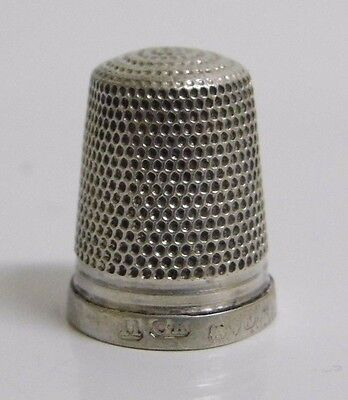 Vintage 1921 Charles Horner Chester Hallmarked Size 11 Silver Thimble