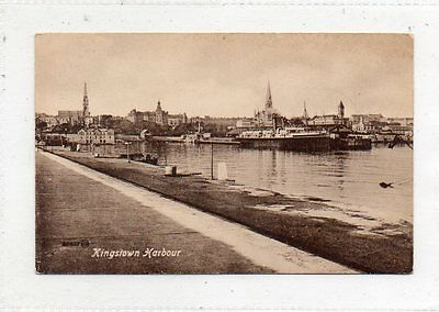 """""postcard Kingston Harbour,co.dublin,ireland (Now Known As Dun Laoghaire) """""