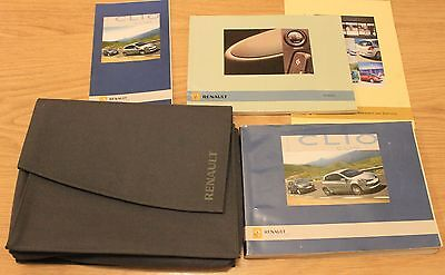 Renault Clio Tce Dci Handbook Owners Manual Wallet Radiosat 2005-2009 T1729