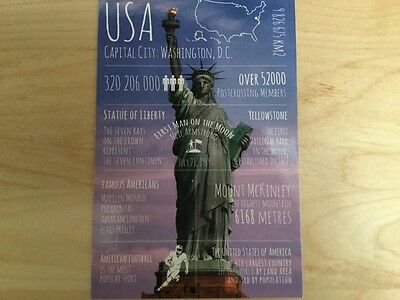 Postcard Unused United States Of America With Statue Of Liberty Info. Postcard