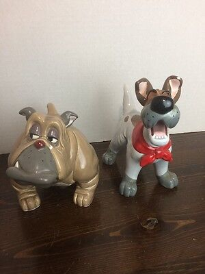 OLIVER And COMPANY Figurines Dodger & Frances Walt Disney 1988