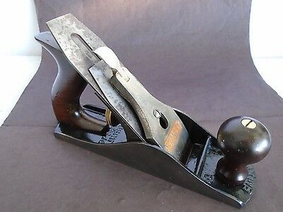 Stanley Bailey No 4 Smooth Bottom Smoothing Bench Plane  w SW Sweetheart Cutter