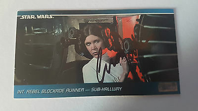 Carrie Fisher Star Wars Certified Original Genuine hand Signed autograph leia