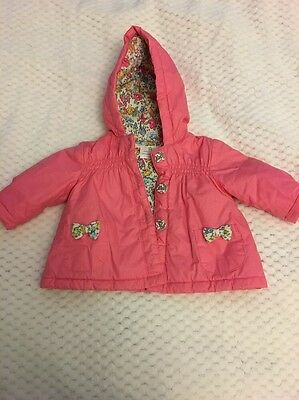 Baby Girls Pink Coat From Next 0-3 Months