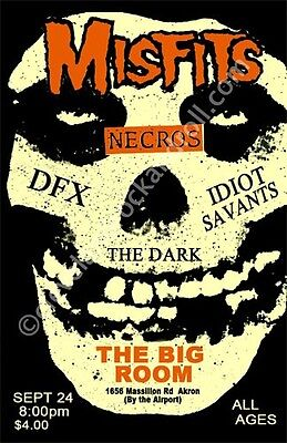 Misfits 1982 Ohio Concert Poster