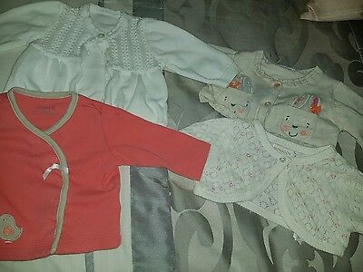 Baby Girls Cardigans 0-3 Months Excellent Condition!
