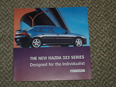 The New Mazda 323 Series Car Sales Brochure.