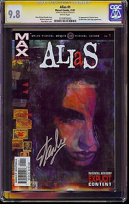 Alias #1 CGC SS 9.8 Signed by Stan Lee! 1st Jessica Jones Max title Luke Cage