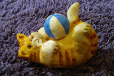 "Peter Fagan Colour Box Cat Ginger Tabby with Ball  ""Cat & Ball"" 3x2cm"