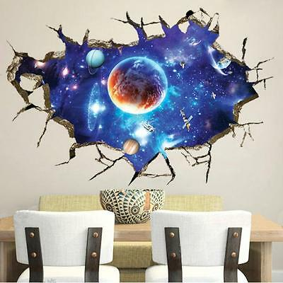 3D Window View Wall Sticker Removable Vinyl Art Room Mural Home Decoration
